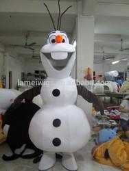 CS50009 lovely frozen snowman olaf mascot costume for adult,lovely frozen snowman olaf mascot costume