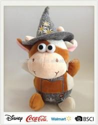 Wholesale Alibaba Animated Plush Cow Voice Recording Toys