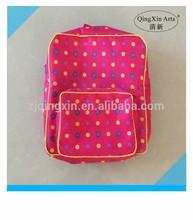 2014 china manufacturer pink color 600D oxford children school bag