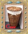 Sauce y seagrass cesto con 200 g crema color de forro de algodón