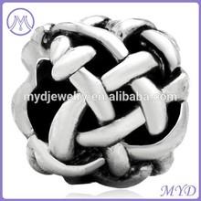 Latest design European style metal bracelet crystal beads