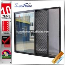 Australian Standards AS2047 thermal broken security door sliding with double glass