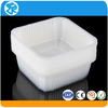 High precision clear plastic food disposable container