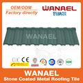 Tradicional wanael decorativa metal telha/anti- uv pedra batatasfritas revestido telhado folha/coberturas para estacionamento