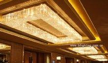 crystal ceiling light fittings hotel lobby