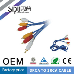 SIPU 3 rca to 3 rca cable audio video cable