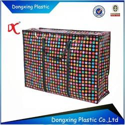Customized recycle pp woven zipper bag Alibaba golden supplier
