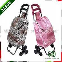 steel hand trolley organic canvas travel bag