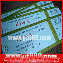 Anti-counterfeiting admission ticket printing