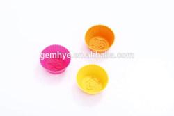 FDA/LFGB/SGS microwave safe bear pattern silicone cupcake