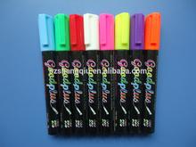 fluorescent Whiteboard marker 5mm, 8 pack, REVERSIBLE TIP (CHISEL / BULLET),passed EN 71&ASTM D-4236 liquid chalk marker