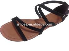 2015 fancy new design fashion flat summer sandal for women