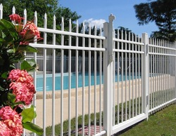 wrought iron fence finials/installing barbed wire fence
