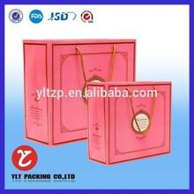 2015 factory custom paper bag kraft paper gift shopping handbag for shoes