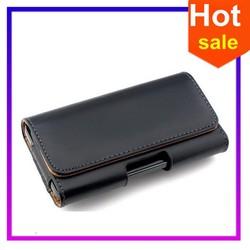 New Mens Bag Pu Leather Waist New Litchi grain Hanging Waist Leather case/Universal leather cases for cell phone waist belt bag