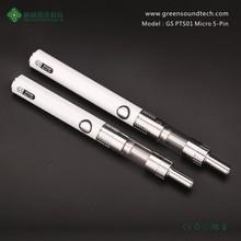 Hot Sale GS-PTS01 Micro 5-Pin vapor manufacturer smoke pen eGo e-cig atomizer vapor vape wholesale