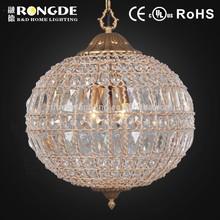 zhongshan interior decorativa forma de bola de lustre de cristal