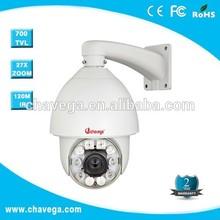 360 rotation CCD 700TVL auto tracking ptz analog camera