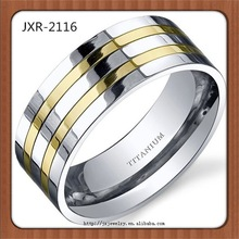 china market hot product white gold inlay titanium ring carbon fiber inlay