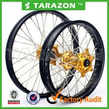 Chinese Tarazon made CNC aluminum spoke wheels for pit bikes crf250