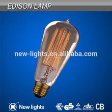Newest design 2015 superb quality ST64 edison lamps
