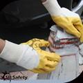 Huile srsafety résister. jaune gant gant en nitrile gants de sécurité