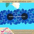 X0197 ( 0.8 ) muchos colores metálicos de gasa cordón de la cinta bordados hechos a mano artificial de la flor de loto de encaje