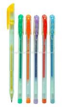 Plastic Transparetn Slim Students Gel Pen