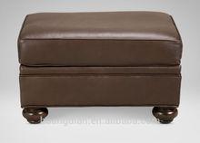 tufted square genuine leather ottoman for contemporary hotel furniture OC7015
