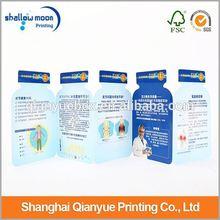 Delicate samples leaflet design