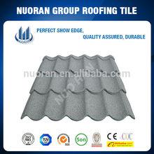 Nuoran steel buildings material/colorful stone coated steel roof tile/longer lifetime than shingles asphalt