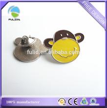 custom animal monkey face shaped metal lapel pin badge soft enamel