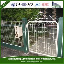 Decorative garden mesh woven wire yard fence