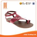 2015 Nuevo estilo romano diseño simple importación sandalia plana