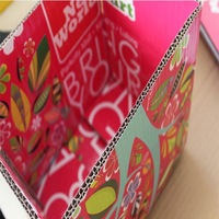 packaging carton box with flossy plastic coating