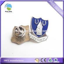 custom shield shaped metal lapel pin badge souvenir