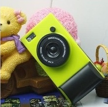 Retro Camera Silicone Cell Phone Case For Iphone5s/5c, with strape