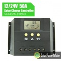 50a 24v solar controlador de carga kit de bateria pwm controlador de carga solar
