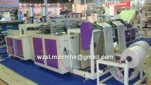 China automatic pe pp T-shirt shopping big bag making machine