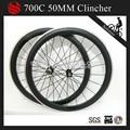 700c 50mm pneu de carbone roues en alliage pour vélo en chine de frein en aluminium surface novatec moyeux pour 10/11speed campagnolo