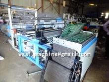 Double Layers PE Plastic film Heat sealing cold cutting bag flat shopping bag making machine