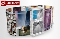 European Style Decorative Recycle Bin With Advertising Poster