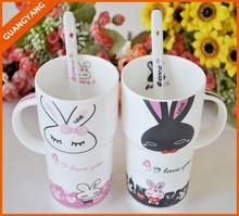 porcelain couple mug,valentine's day mug lover's mug