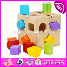 2015 Wooden Block Box Hot Toys,DIY toy wooden shape box blocks,Shape Intelligence Box Wooden Educational Blocks Box Toy W12D017