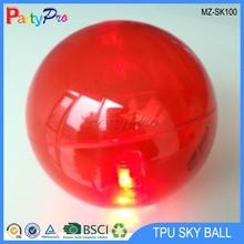 2015 New High quality TPU 55mm 65mm 75mm 85mm 100mm 110mm 150mm led bouncing ball Comet Ball plastic hollow ball
