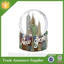 100mm custom resin snow globe city building new york for gifts & home decor