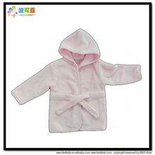BKD plain fleece hood baby bathrobe