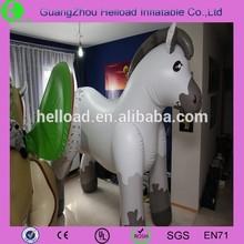 big plastic white horse /inflatable white horse