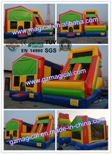 Commercial Inflatable bounce house with slide / inflatable combo