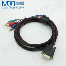 Wholesale! High quality vga to s-video 3 rca composite cable 1m